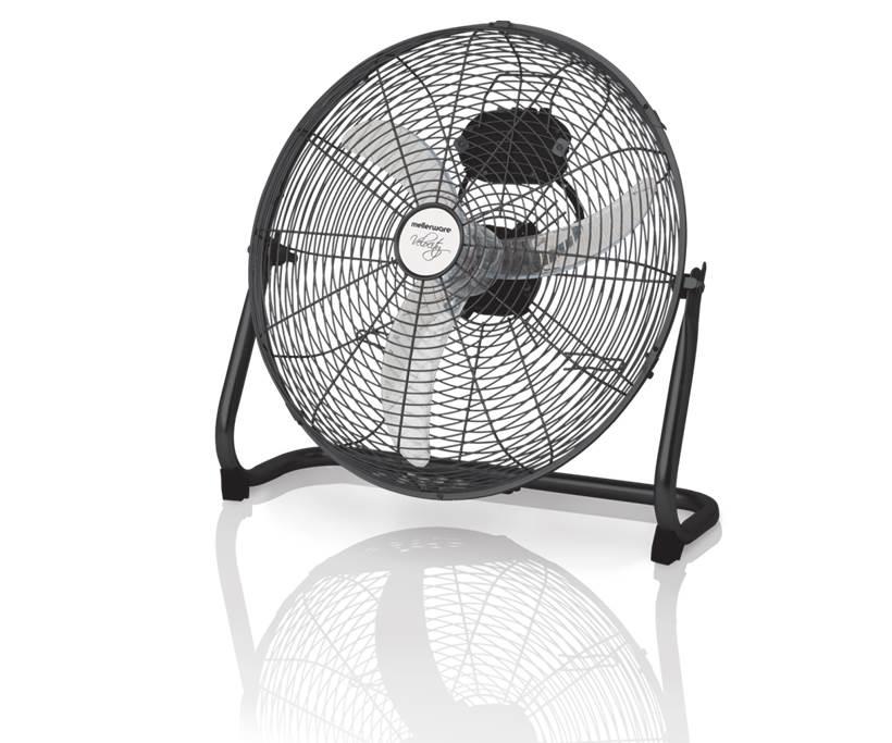 Fan Floor Fan Steel Black