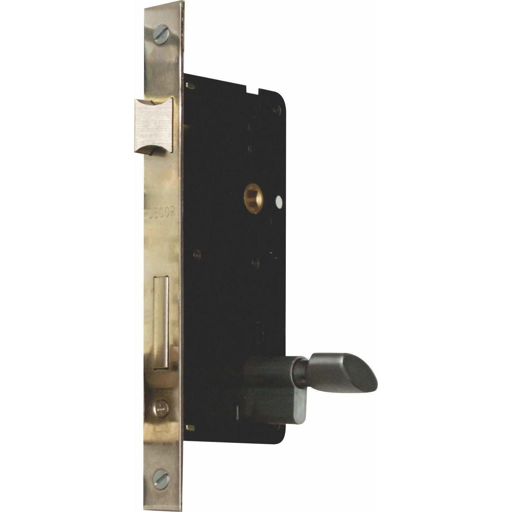 Door Lock - Latch - 60mm Backset - Double Locking (Lock Body Only)