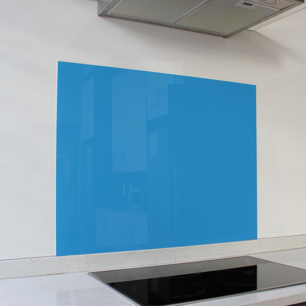 Blue Hob Glass Splashback (898 x 700 x 6mm)