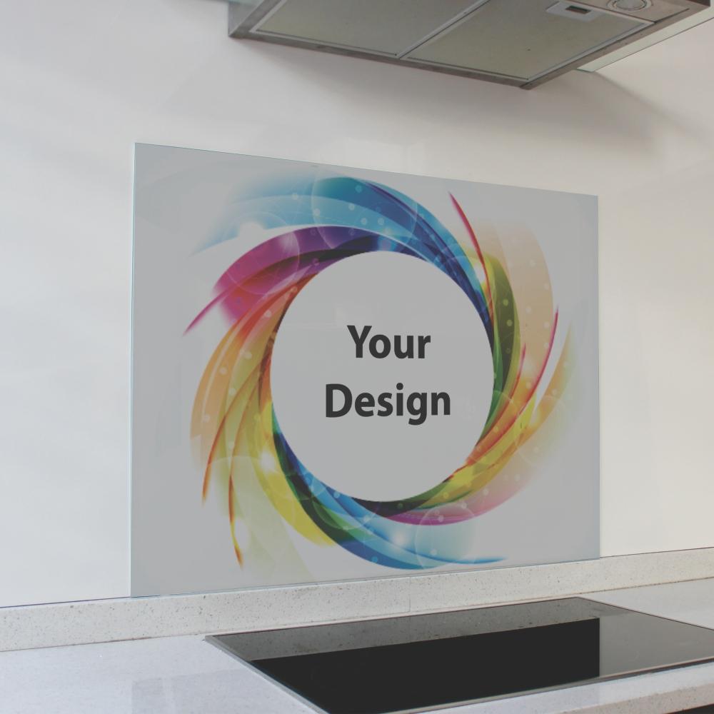 Customized Print Glass Splashback (898 x 700 x 6mm)