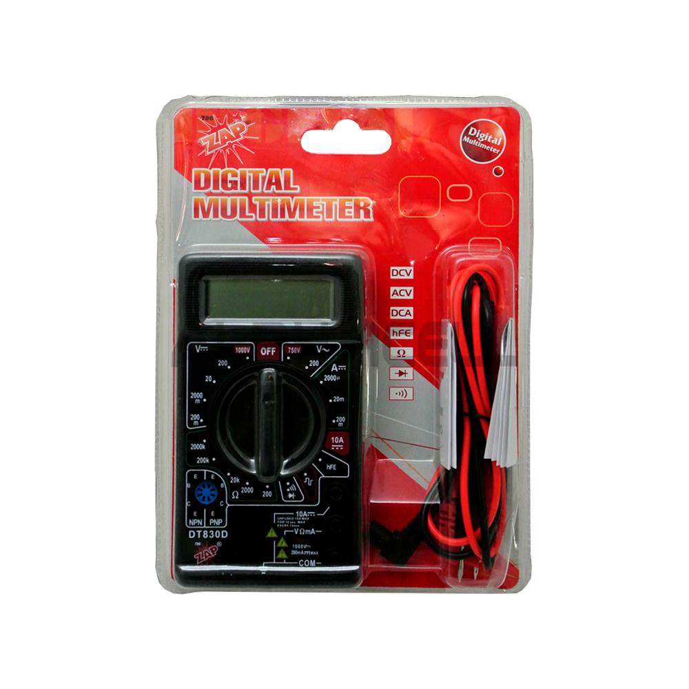 Multimeter Digital Buzzer DT830D