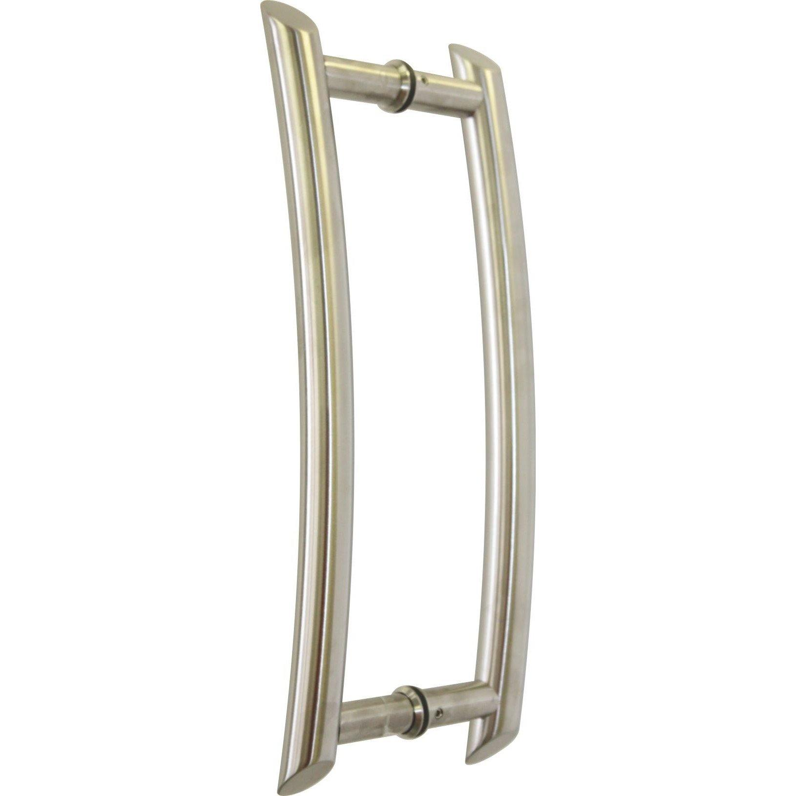 Brushed stainless steel pull handle