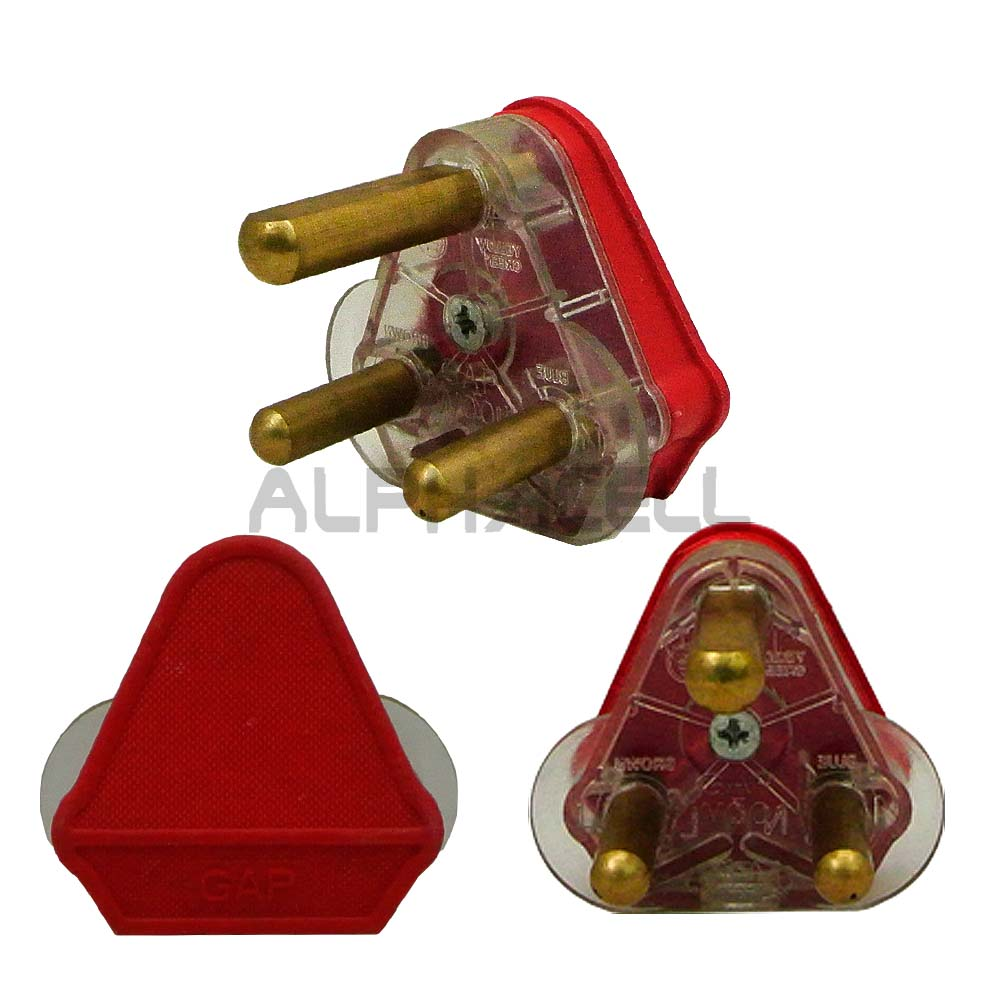 Plug Top 16A Dedicated Red - Solid Pin