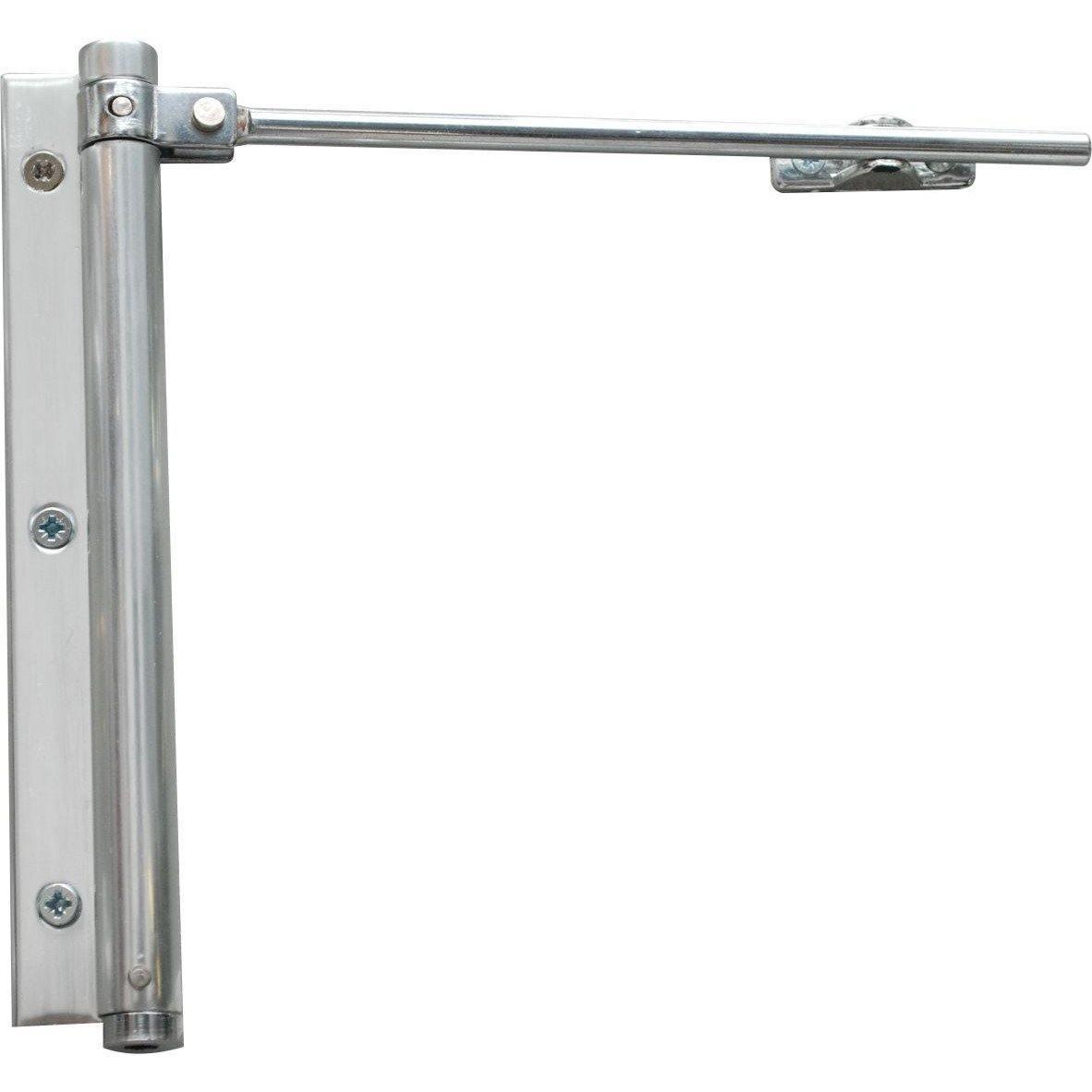 Spring arm door closer - light duty