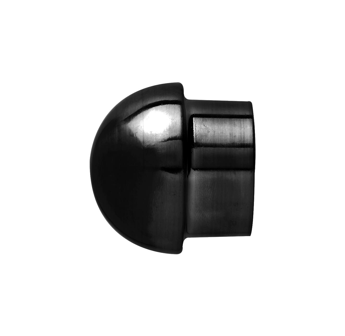 25 mm Steel Collar End Dome Onyx