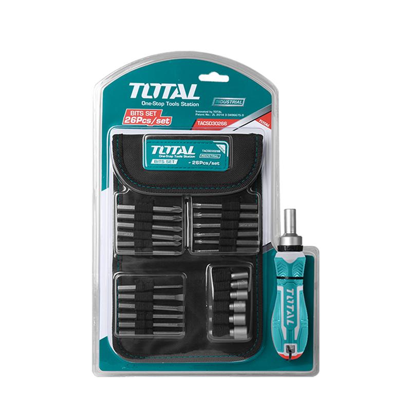 Total Tools Screwdriver Set 26 Pcs Ratchet