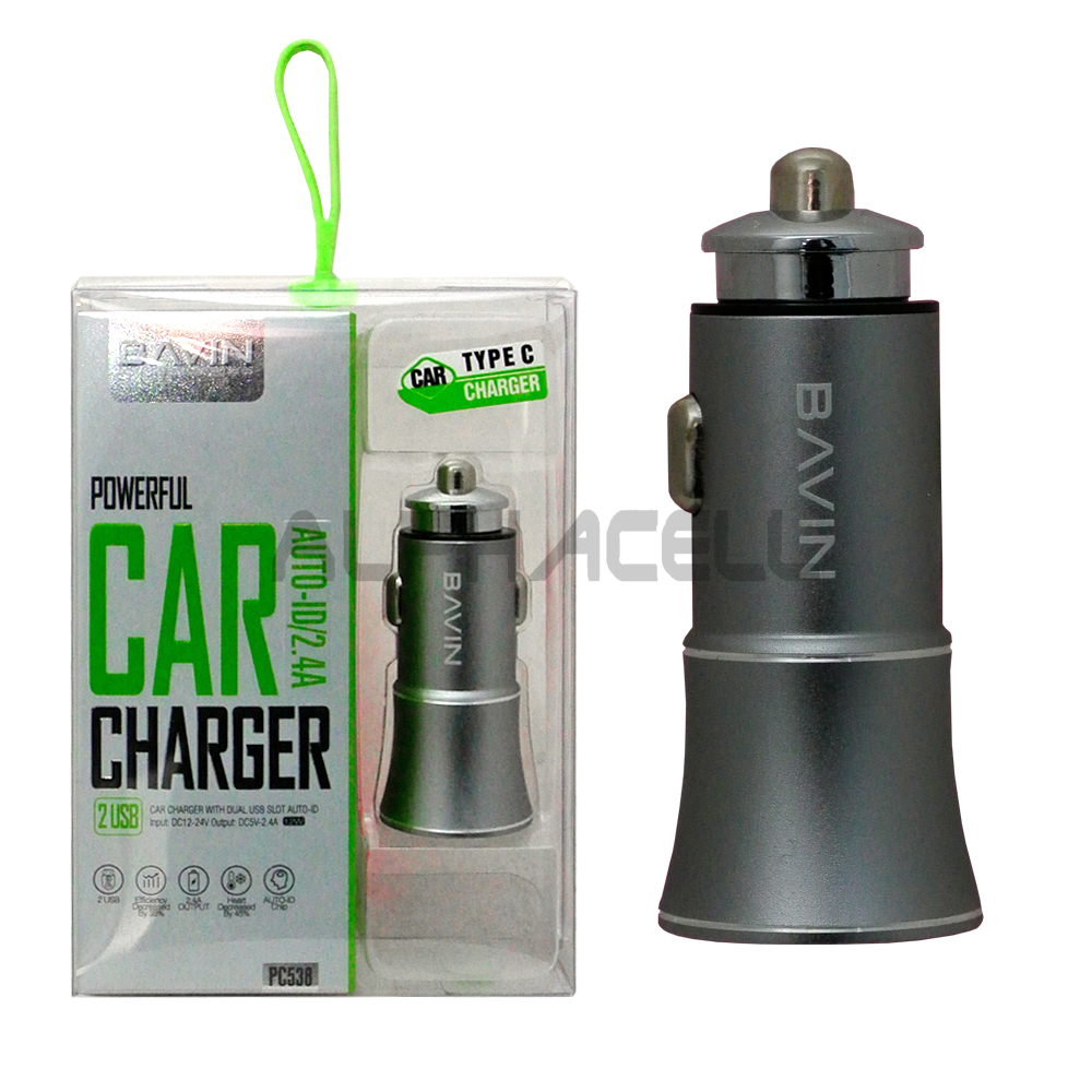 CAR CHARGER MOXOM DUAL - TYPE C - KC-15