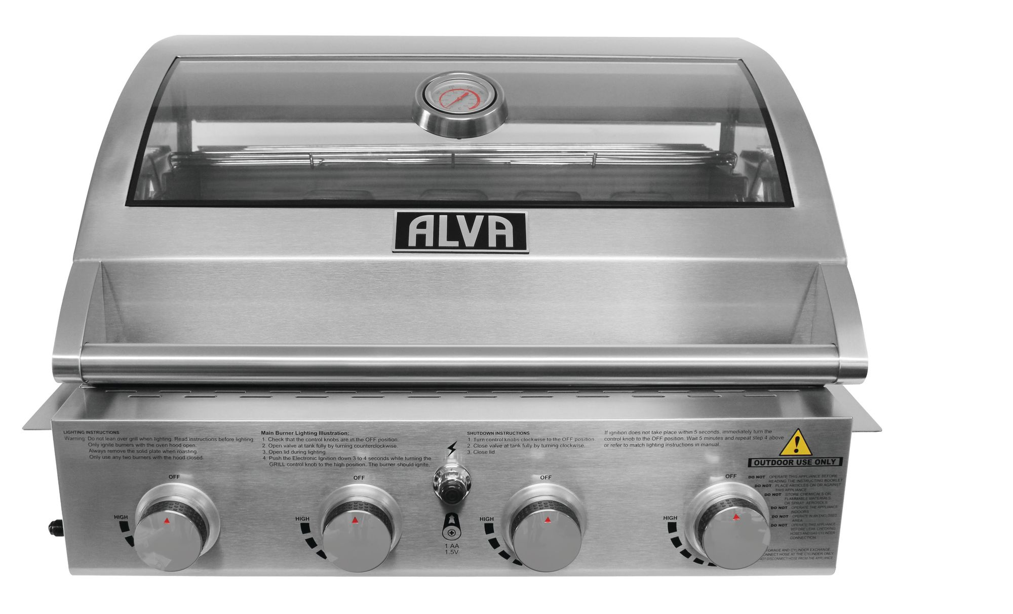 Alva - Mojave 4 Burner Drop-In Gas BBQ