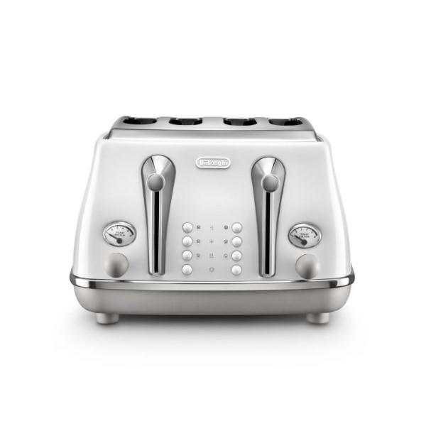 Delonghi Icona Captitals Toaster 4S Sydney White