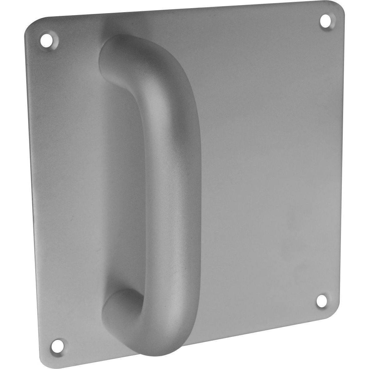 Aluminium Door Handles on Plate - 150 X 150mm - Pull Handle