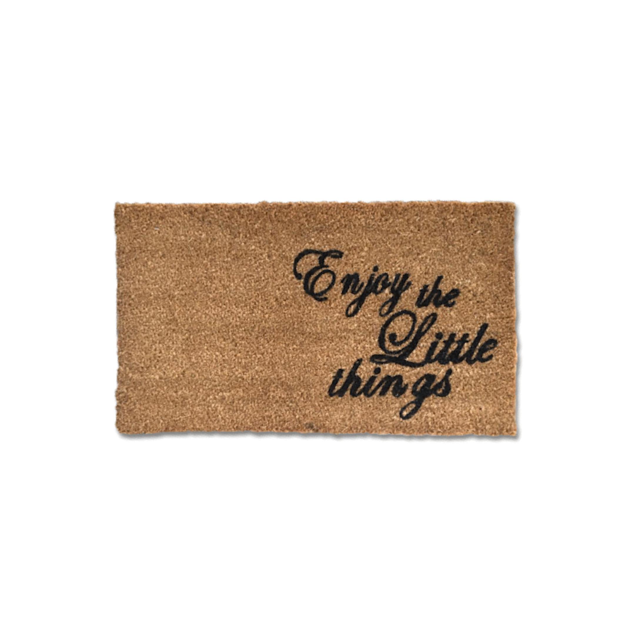 Matnifique Coir Doormat - Enjoy Little Things Design 700 x 400 x 14mm