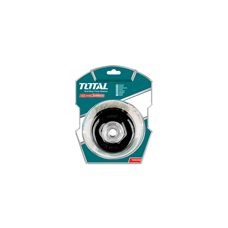 Total Tools Cup Brush 75mm Wire