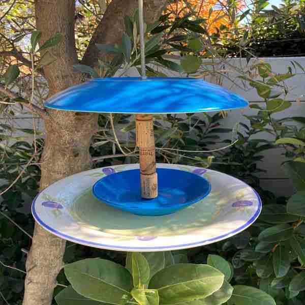 Bird Feeder Craft Blue Tones