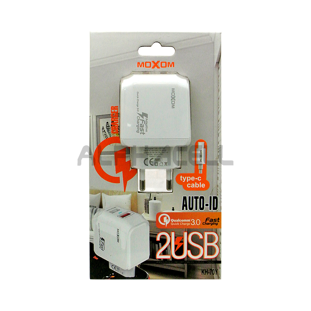 CHARGER MOXOM FAST 3AMP - TYPE C - KH70Y